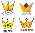 Crown elements logo set国王的 图库摄影