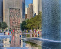 Crown Fountain, Millennium Park, Chicago Royalty Free Stock Photo