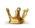 Crown gold on a white background Stock Image