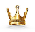 Crown gold on a white background Stock Photos