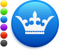 Crown icon on round internet button Royalty Free Stock Photo