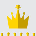 Crown Icon Set Isolated