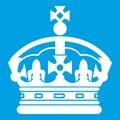 Crown icon white Royalty Free Stock Photo