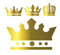 Crown icons Royalty Free Stock Photo