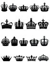 Crown icons collection of illustration Royalty Free Stock Photography