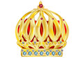 Crown isolated on a white background eps Royalty Free Stock Images