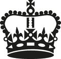 Crown in Keep calm style Royalty Free Stock Photo