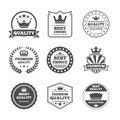 Crown labels icon set Royalty Free Stock Photo