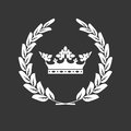 Crown and laurel wreath - blazon or coat of arms
