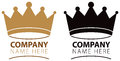 Crown logo a icon in colour and black and white Royalty Free Stock Images