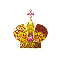 Crown with pink crystals