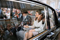 Crown princess mary crown prince frederik file photo oct and pirnce has canclled their first thier officiel tour to rio brasin to Royalty Free Stock Image