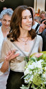 Crown princess mary file photo august and pirnce frederik has canclled their first thier officiel tour to rio brasin to Stock Photos