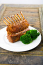 Crown rack of Lamb Royalty Free Stock Photography