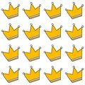 Crown seamless pattern hand drawn on white font for textures wrapping and kids style