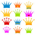 Crown set prince or princess clipart Royalty Free Stock Photo