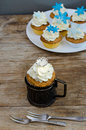 Crown And Snowflakes Muffins Royalty Free Stock Photo