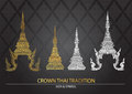 Crown thai tradition icon Royalty Free Stock Photo