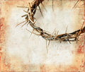 Crown of Thorns on Grunge Background Royalty Free Stock Photo
