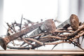 The crown of thorns and nails Royalty Free Stock Photo