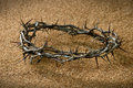 Crown of Thorns on Sand Royalty Free Stock Image
