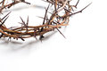 A crown of thorns on a white background - Easter. religion. Royalty Free Stock Photo