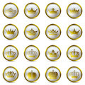 Crown and tiara icons set Royalty Free Stock Photography
