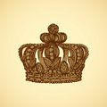 Crown. Vector drawing