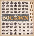 Crown. Vector set. Collection icons Royalty Free Stock Photos