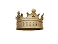 Crown on a white background golden isolated Royalty Free Stock Photography