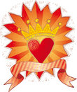 Crowned heart Royalty Free Stock Image