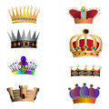 Crowns and caps vector illustration Stock Photos