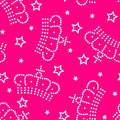 Crowns and stars seamless pattern Stock Images