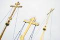 Cruces ortodoxas de oro Fotos de archivo