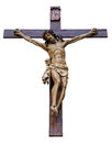 Crucifixion isolated of jesus christ on white background Stock Photography