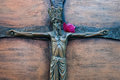 Crucifixion a piece of artwork representing the of jesus christ Stock Photography