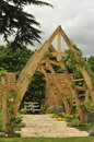 Cruck frame pergola Royalty Free Stock Images