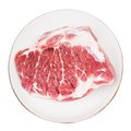 Crude meat on a white backgrounds Royalty Free Stock Photo