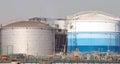 Crude Oil Tank Royalty Free Stock Photo