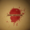 Cruel back new conceptual background with blood drops on cardboard texture Royalty Free Stock Image