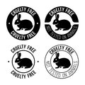 Cruelty free emblem Royalty Free Stock Photo