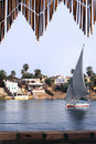 Cruise on Egyptian Felucca Royalty Free Stock Photo
