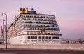 Cruise liner costa mediterranea in sea port malaga spain seaport Stock Photo