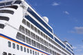 Cruise liner a huge sailing in the mediterranean Royalty Free Stock Images