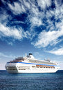 Cruise liner in open sea Royalty Free Stock Image