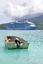 Cruise liner radiance of the seas at mystery island vanuatu Stock Images
