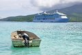 Cruise liner radiance of the seas at mystery island vanuatu Stock Photos