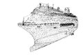 Cruise liner ship body structure wire model Stock Photos