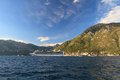 Cruise liner venture near the town of perast kotor bay montenegro september th Stock Photography