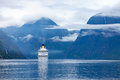 Cruise liners on hardanger fjorden ship norway Stock Photo